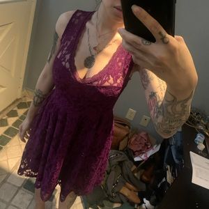 Forever21 Purple Lace Dress S